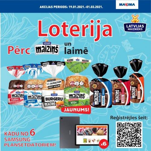 Maiziņš loterija veikalos Maxima