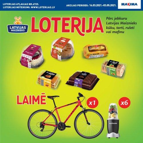 !NOSLĒGUSIES! Kūkas, tortes, ruletes, mafini! Produktu loterija Maxima veikalos
