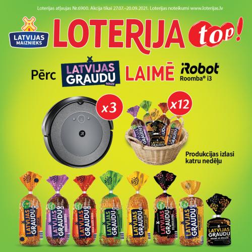 Latvijas Graudu maizes loterija veikalos Top!