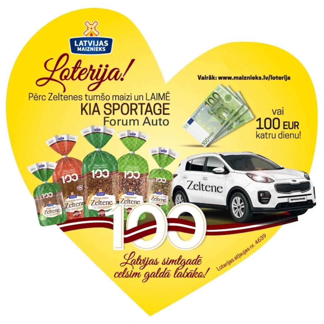 Zeltenes loterija Latvijas 100-gadei