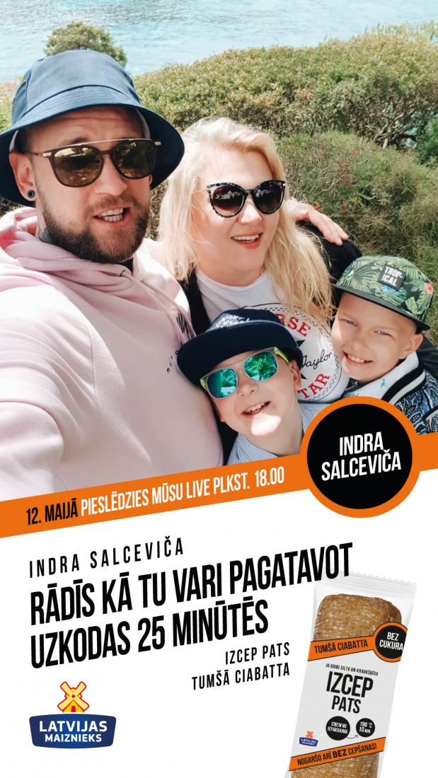 Gatavo kopā ar IZCEP PATS un Indras Salcevičas ģimeni!