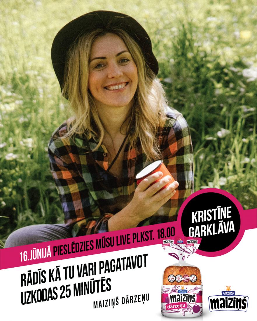 LIVE cooking with Kristīne Garklāva!