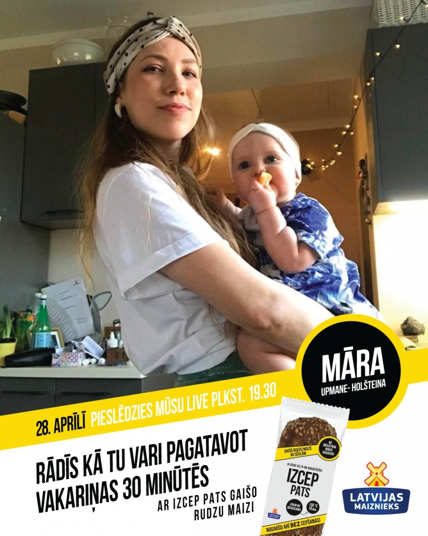 LIVE cooking with Māra Upmane-Holšteina family!