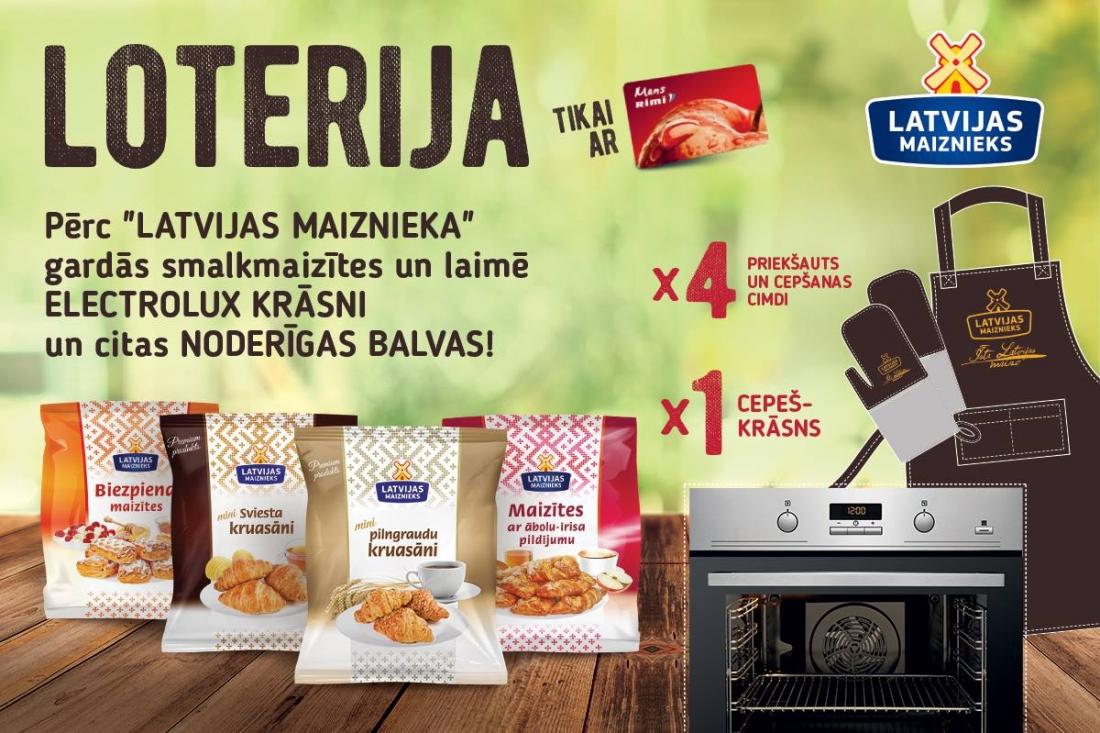 """Покупай вкусные булочки """"LATVIJAS MAIZNIEKS"""", используя карточку MansRIMI и ВЫИГРЫВАЙ!"""