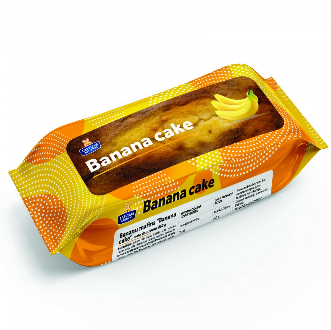 "JAUNUMS! BANĀNU MAFINS ""BANANA CAKE"""
