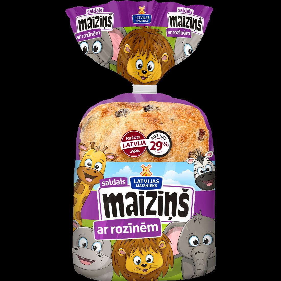 Maiziņš with raisin
