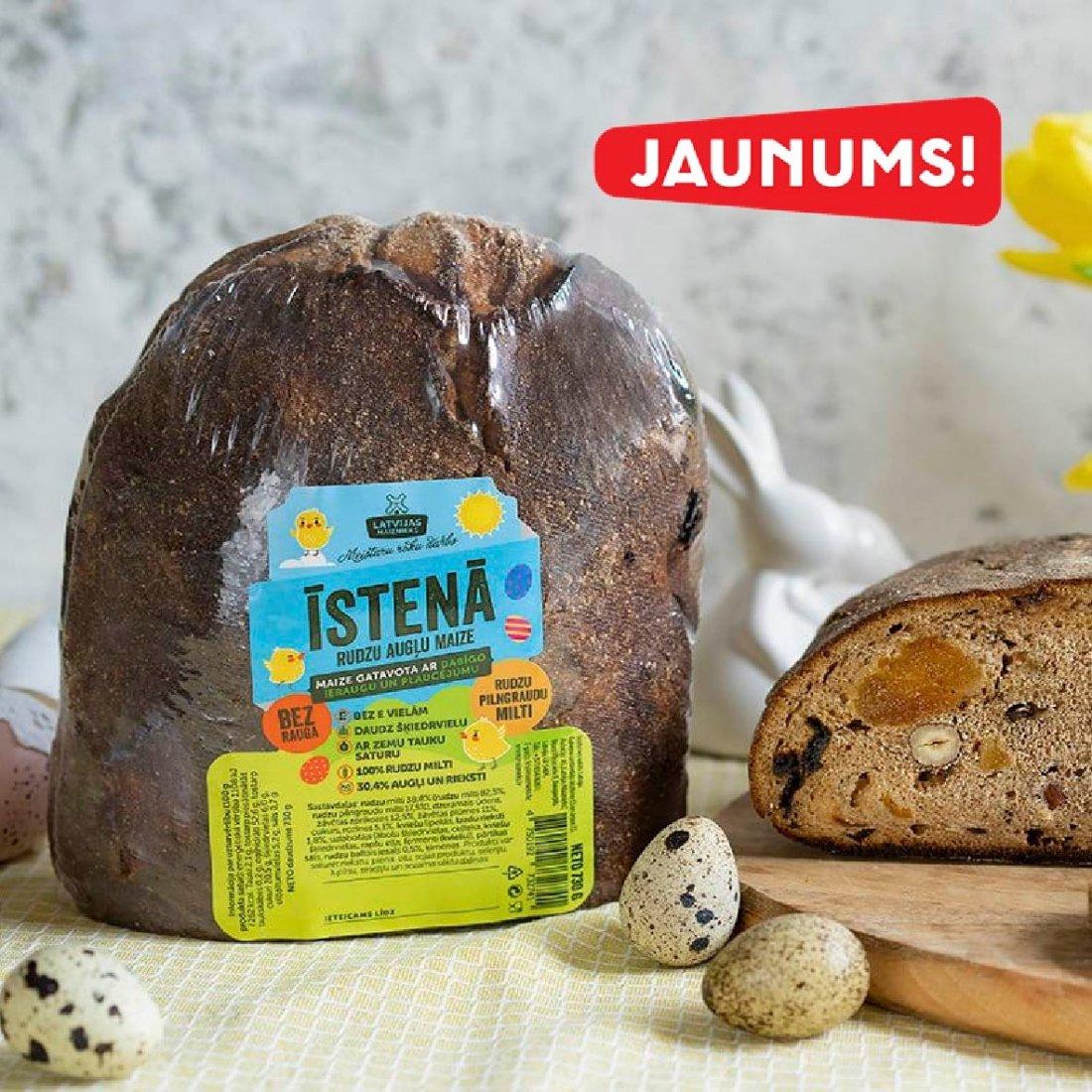 JAUNUMS! ĪSTENĀ rudzu augļu maize