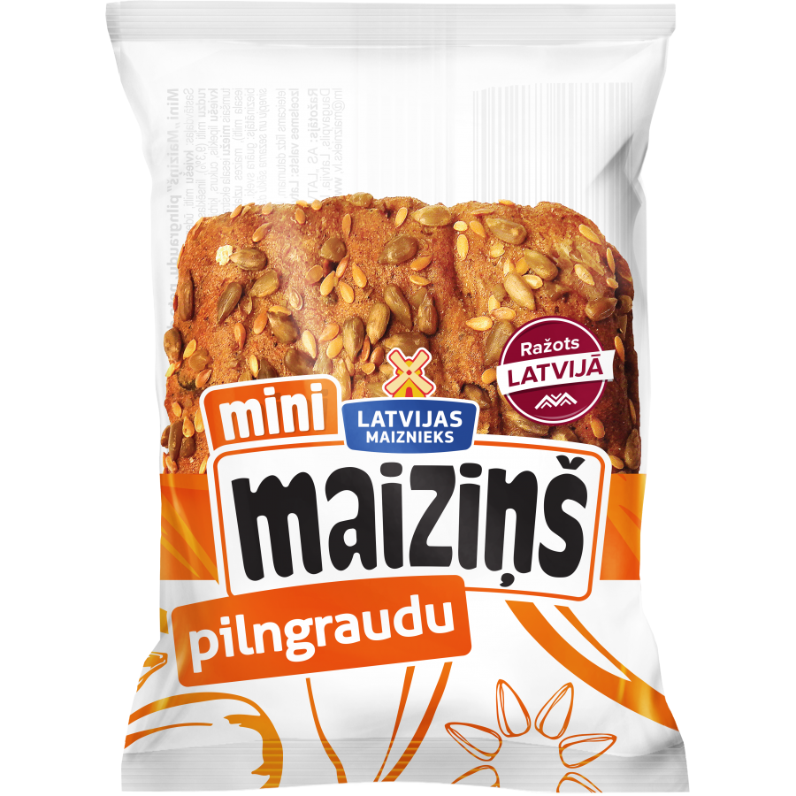 "Whole Grain Bun ""Maiziņš"""