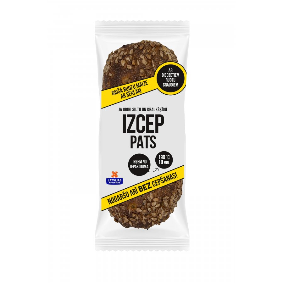 "Light rye bread with seeds ""IZCEP PATS"""