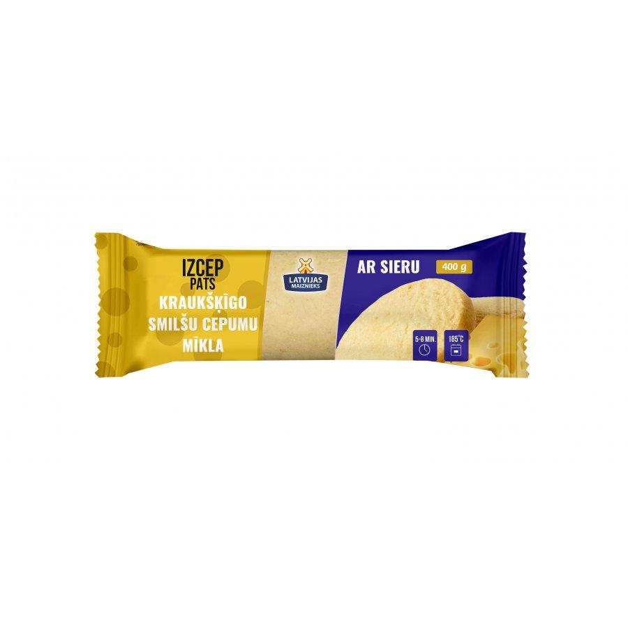 Kraukšķīgo smilšu cepumu mīkla ar sieru