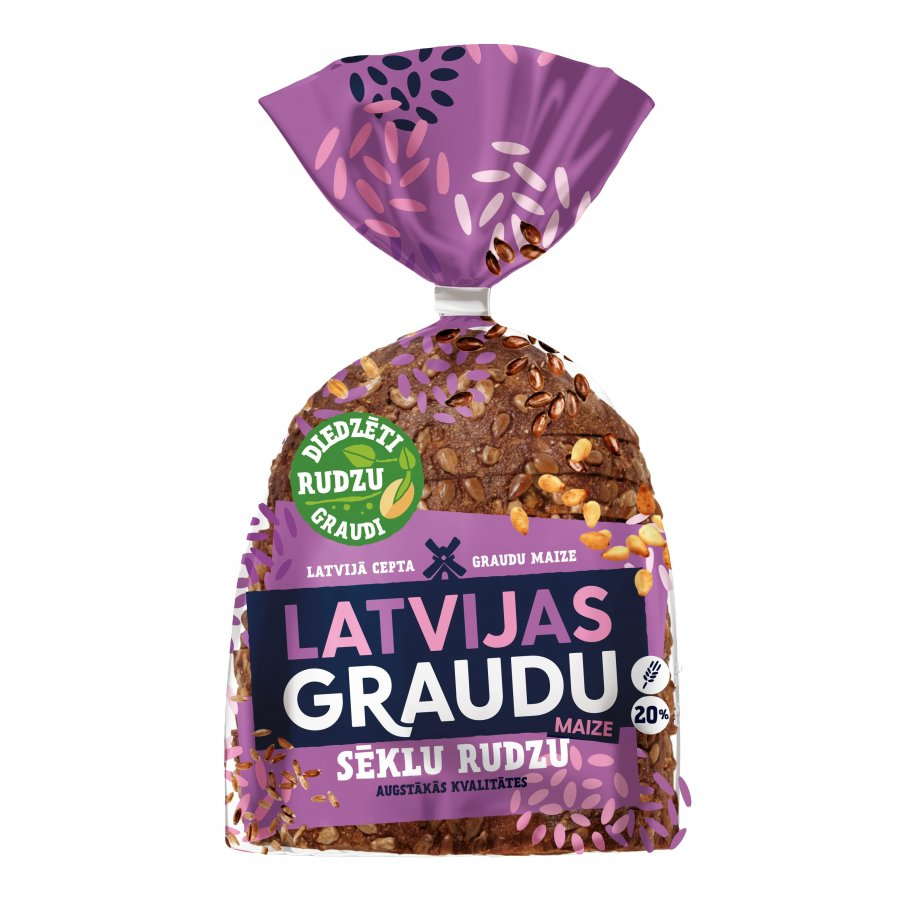 """Latvijas Graudu"" rye bread with seed"