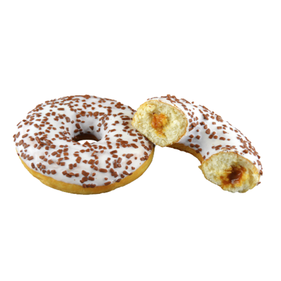 Donut with caramel filling